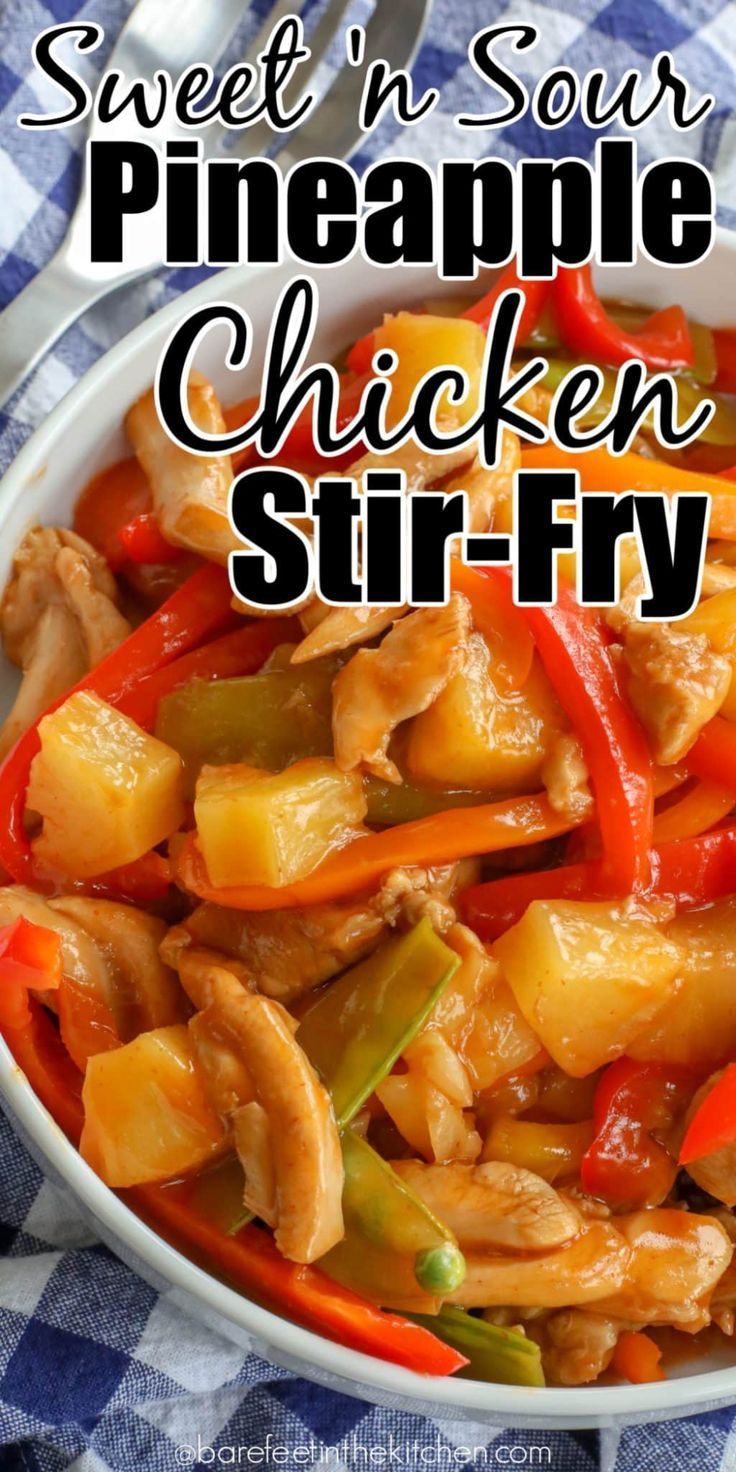 Photo of Sweet and Sour Chicken Stir-Fry