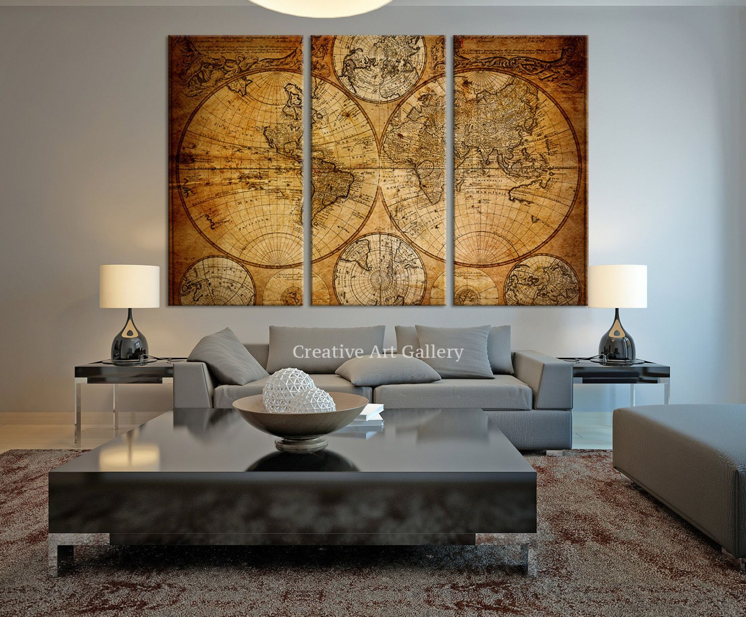 Vintage world map canvas art prints rustic world map art canvas vintage world map canvas art prints rustic world map art canvas print gumiabroncs Images