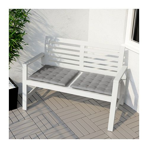 Superb Ikea Applaro Bench With Backrest Outdoor Brown Stained Andrewgaddart Wooden Chair Designs For Living Room Andrewgaddartcom