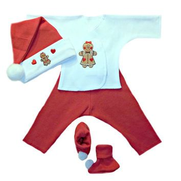 Red Peppermint Baby Girl Christmas Santa Hat Dress 4 Preemie /& Newborn Sizes