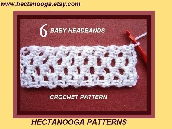 CROCHET PATTERN, ...Tutorial for making baby headbands..... pattern ...
