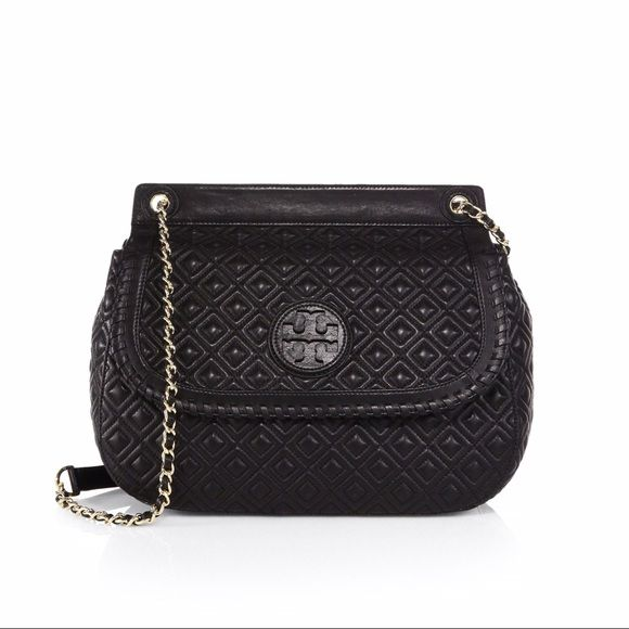 Tory Burch Marion Quilted Bag ***SOLD   Quilted bag, Winter season ... : tory burch marion quilted saddle bag - Adamdwight.com
