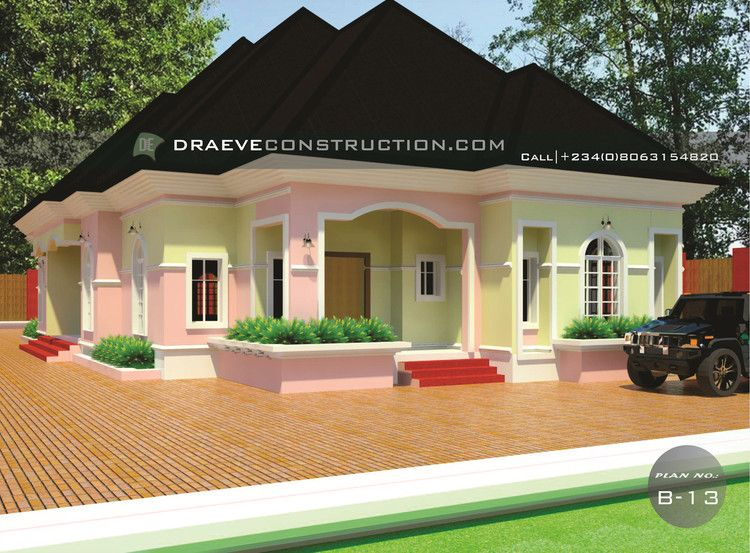3 Bedroom Flat Bungalow Hosue Plan Beautiful House Plans 3 Bedroom Flat Building Design