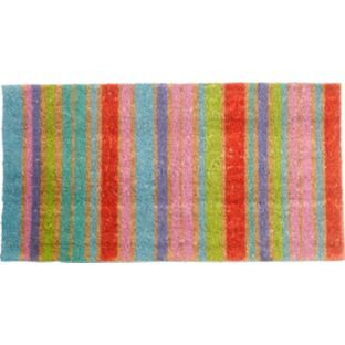 buy colourmatch stripes doormat 70x40cm natural at. Black Bedroom Furniture Sets. Home Design Ideas