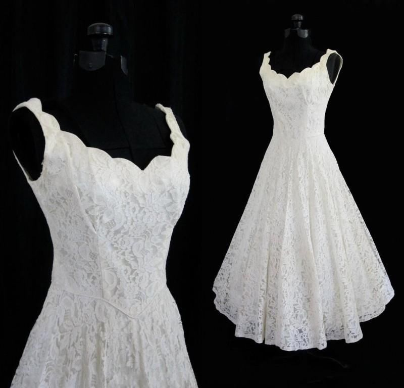 New White//Ivory Short Tulle Lace Bridal Gown Party Prom Wedding Dress Size 6-18