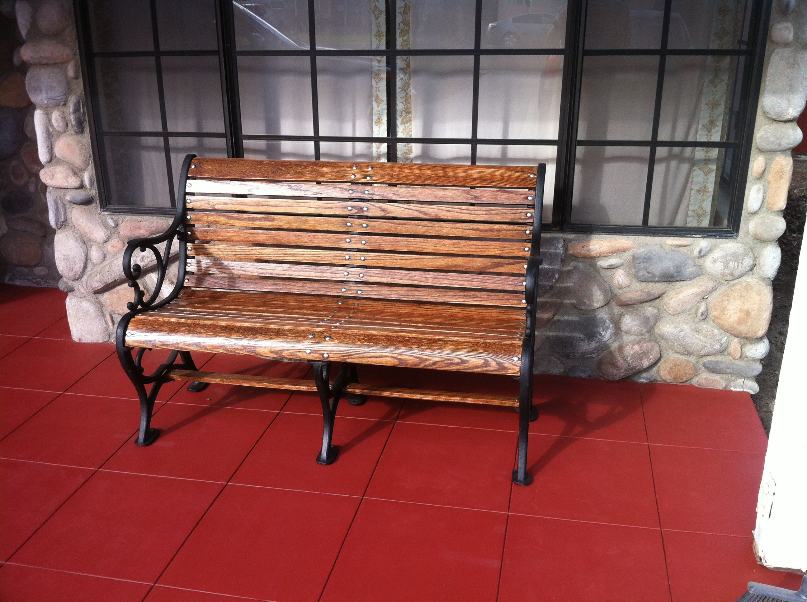 Garden Bench: Two Week Restoration   Sanding, Stain And Seal. New Paint,