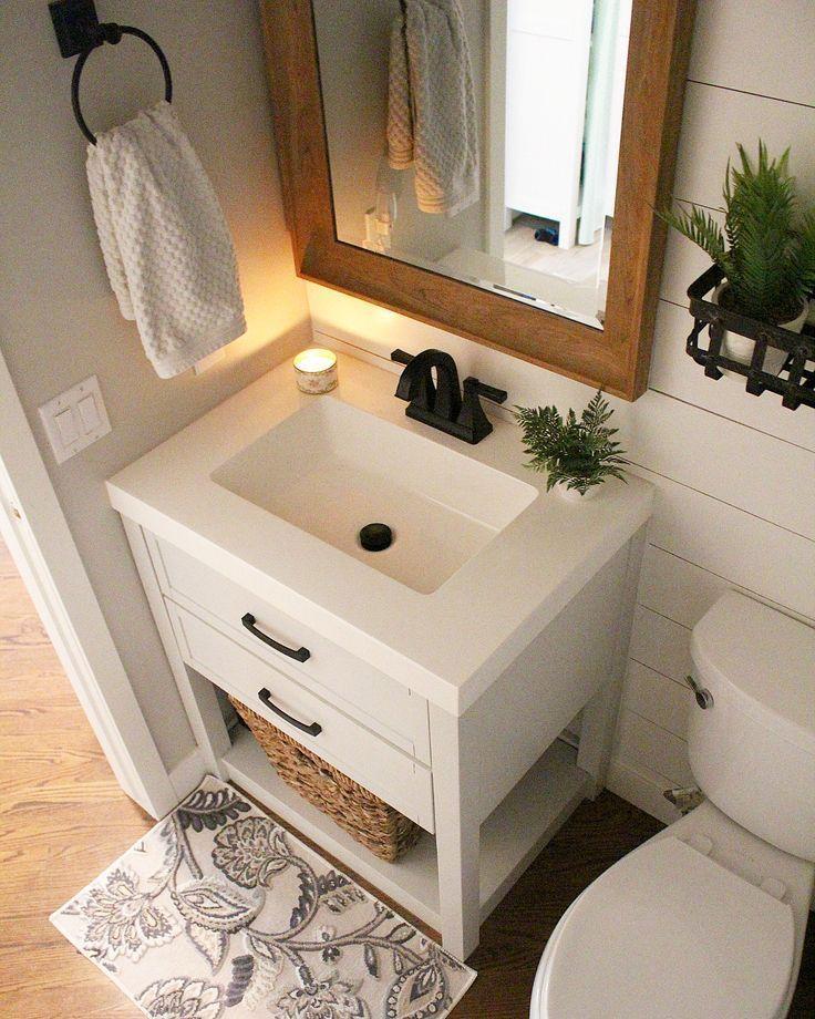 Half Bathroom Ideas In 2020 Guest Bathroom Small Small Bathroom Vanities Powder Room Vanity
