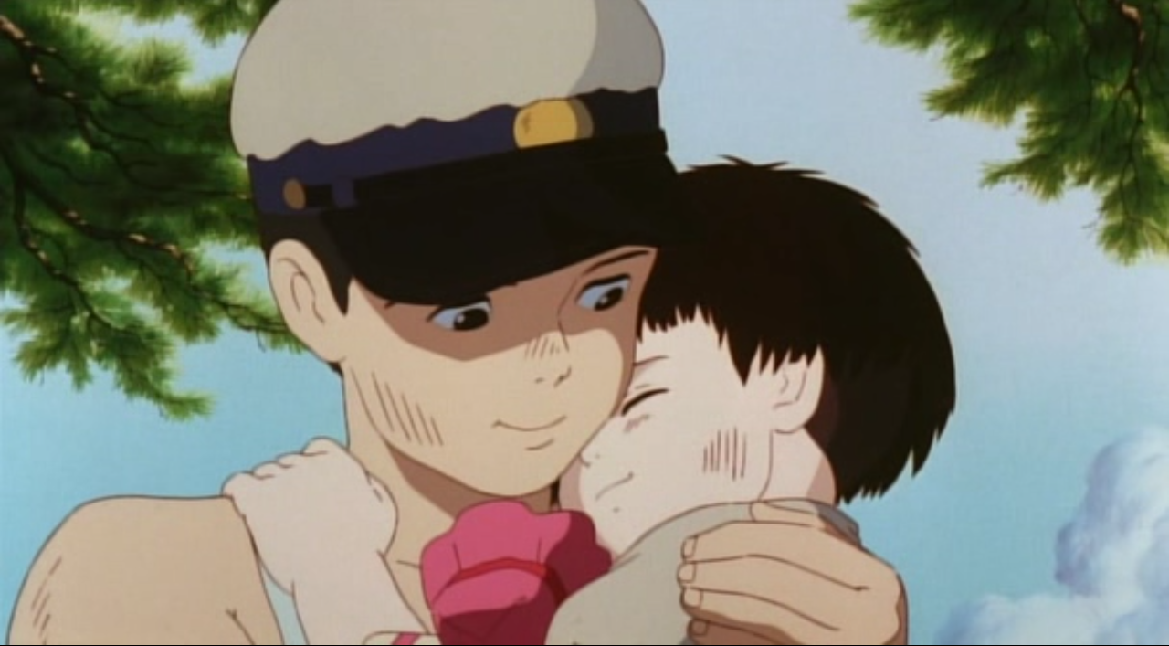 Setsuko and Seita, Grave of the Fireflies. This one will