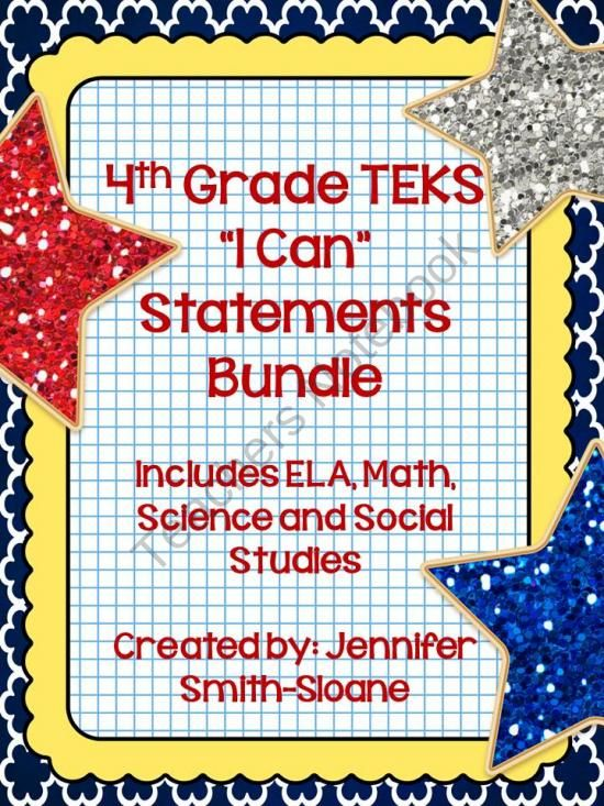 4th Grade TEKS Turn Those Daily Student Objectives Of TEKS