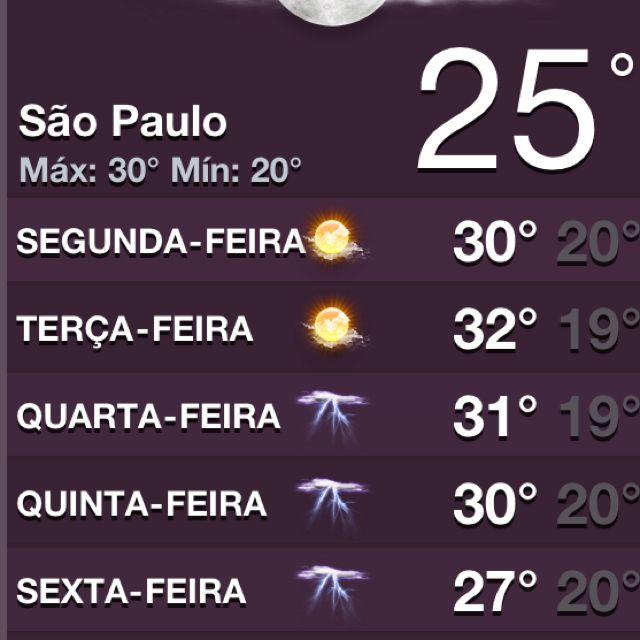 25 graus? Nunca! Hoje ão existe amor ou conchinha em São Paulo sem ar-condicionado.