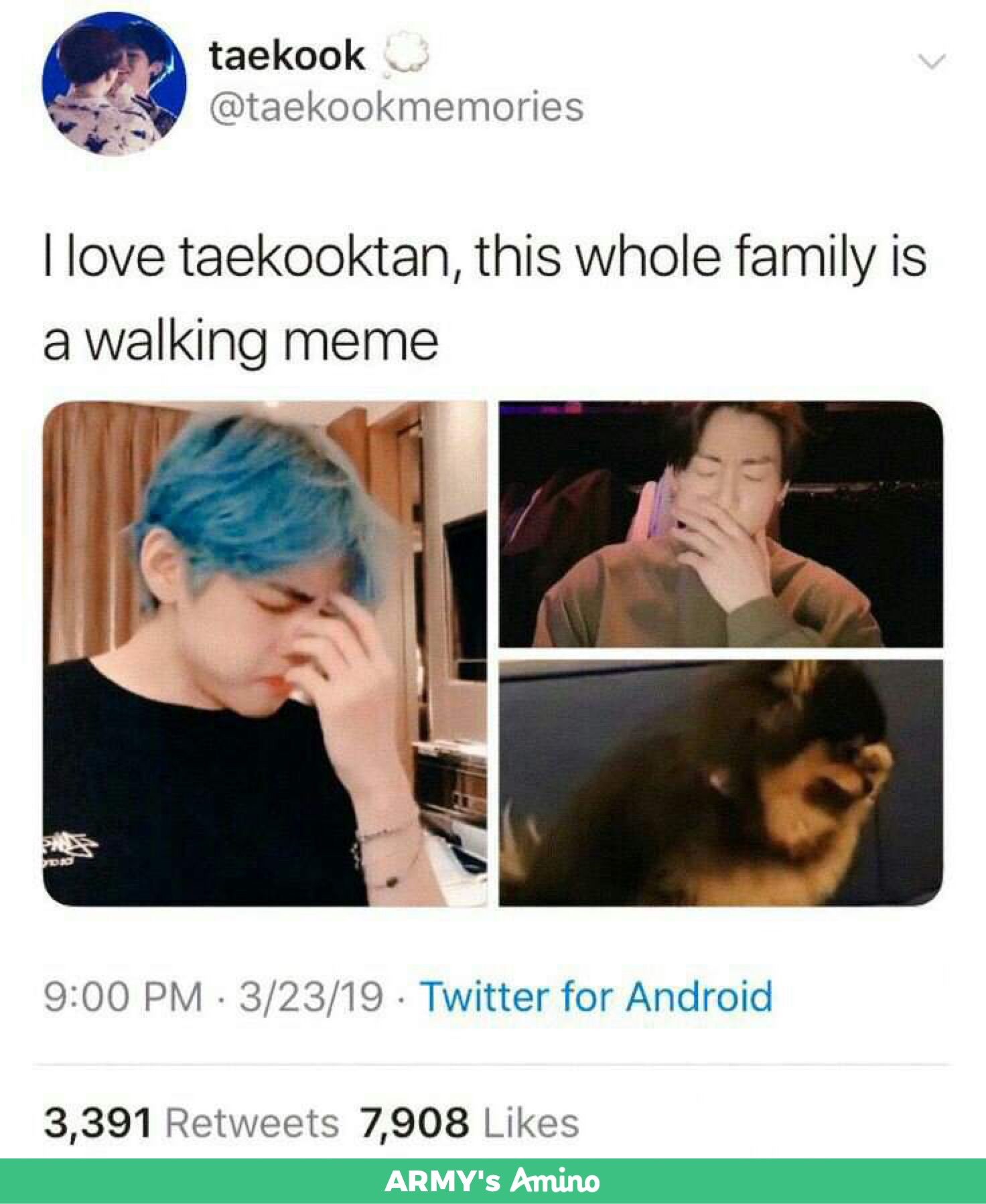 Photo of Taekook are great parents to Yeontan