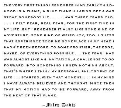 Miles Davis on Fear
