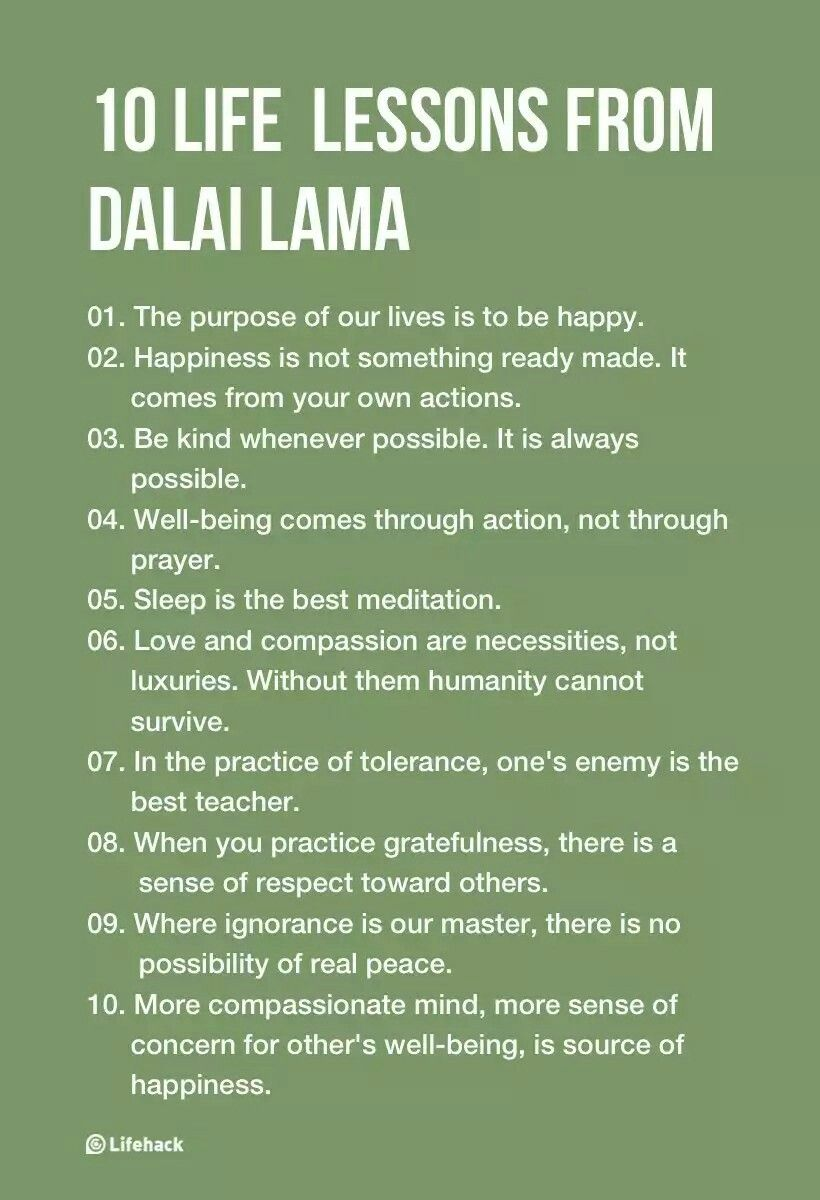10 Inspirational Life Lessons From Dalai Lama U2026