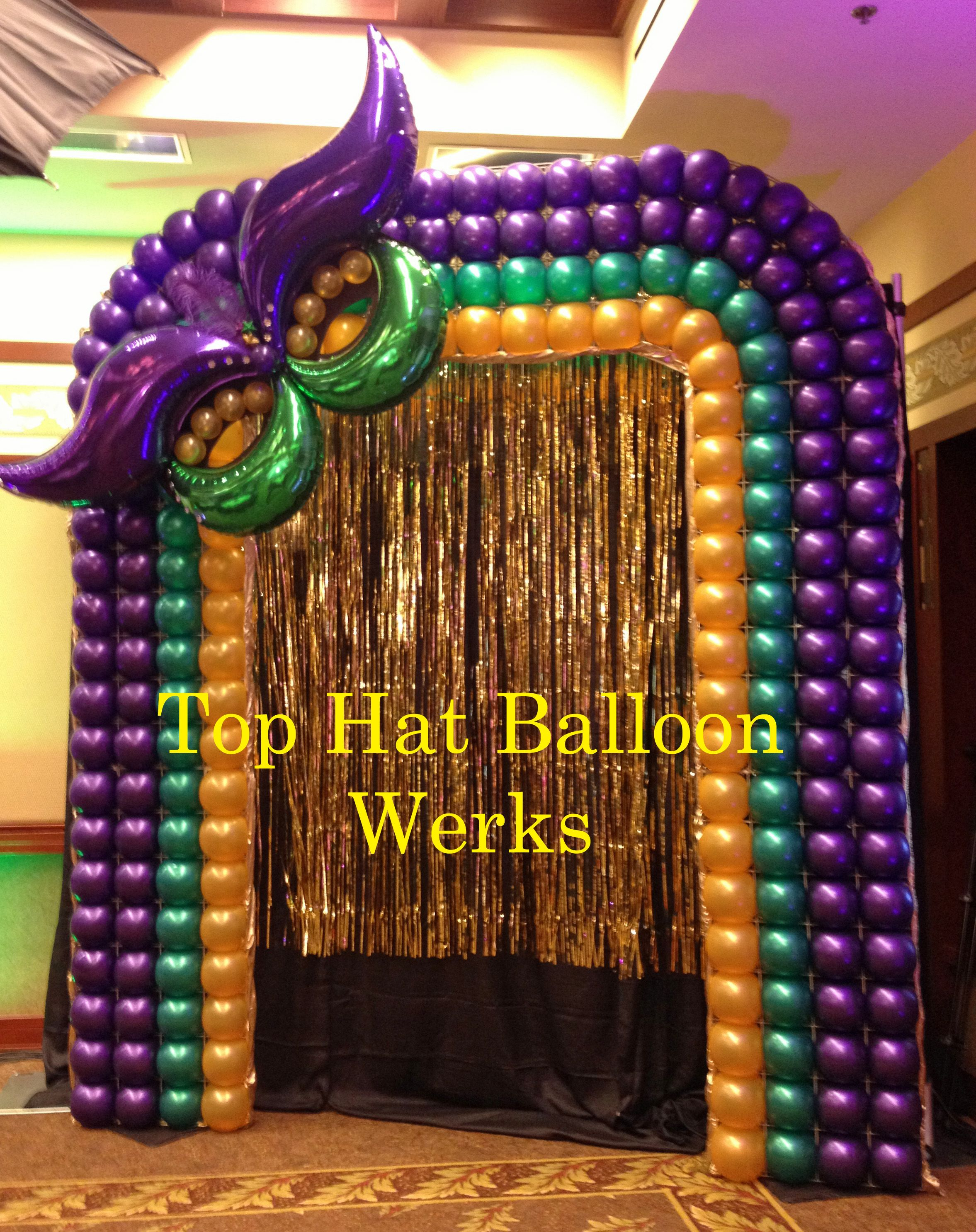 Mardi Gras Photo Backdrop | REALIZACION DE FIESTAS | Pinterest