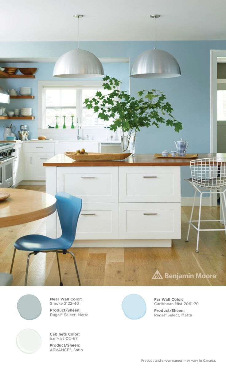caribbean mist benjamin moore - Google Search | Kitchen Cabnet Color on