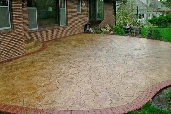 Canyon Stone Concrete Patio Staining Ideas