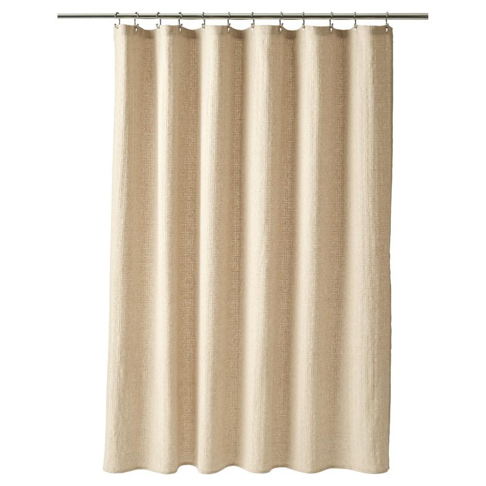 Shower Curtain Basketweave Linen 72 X72 Fieldcrest