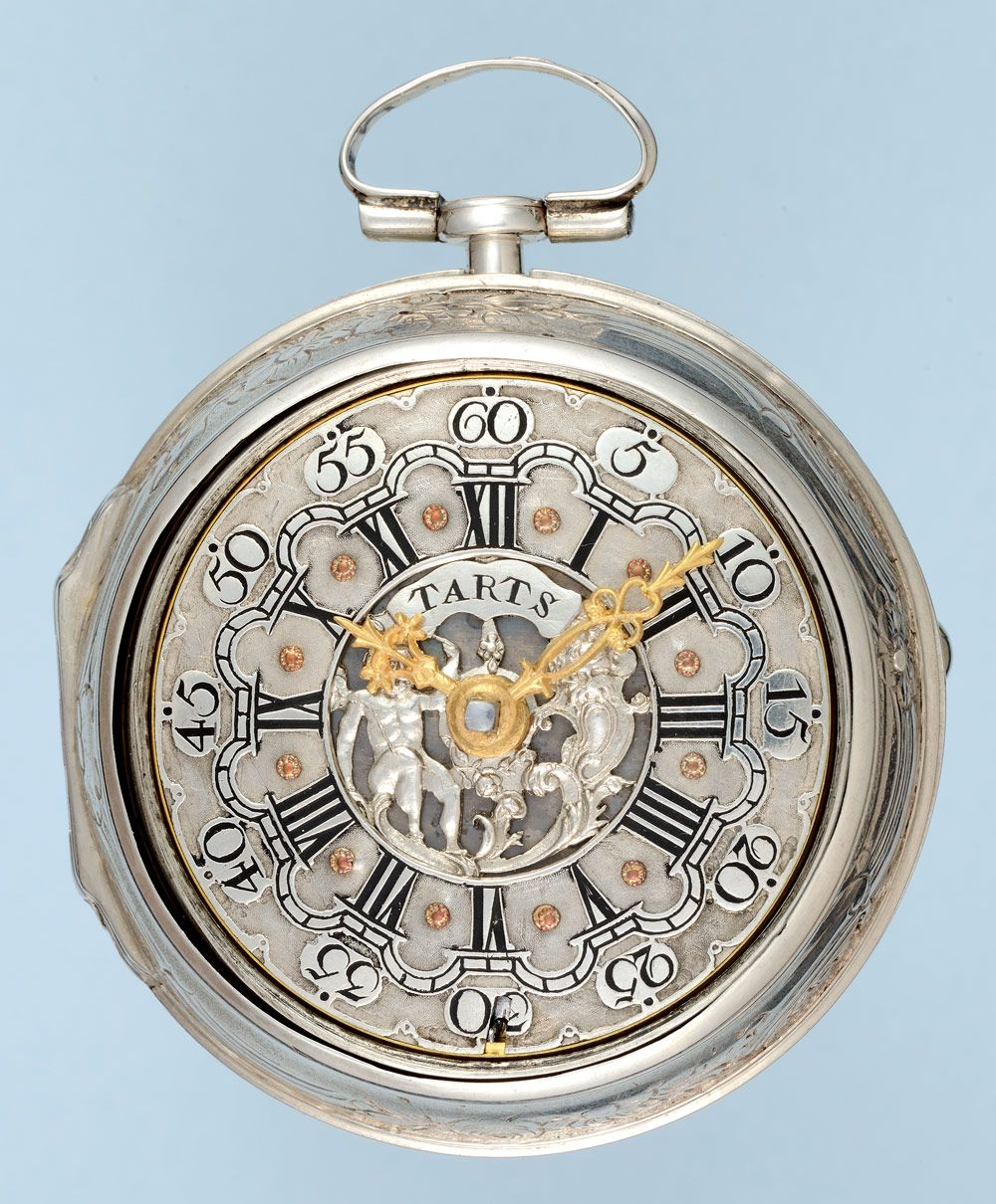 Mens pocket watches with chain images mens gold pocket watches gifts - Antique Pocket Watch Silver Repousse Pair Case With Champleve Dial From Pieces Of Time