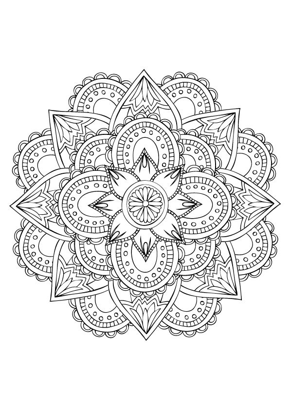 Mandala designs for coloring on Behance Coloring