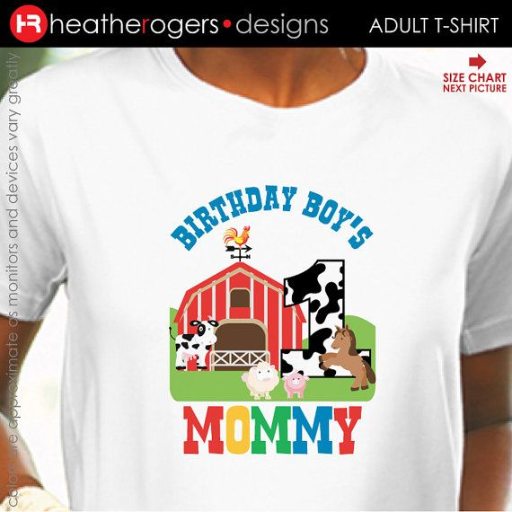 Farm Animal Birthday Shirt For Adults Old By HeatherRogersDesigns