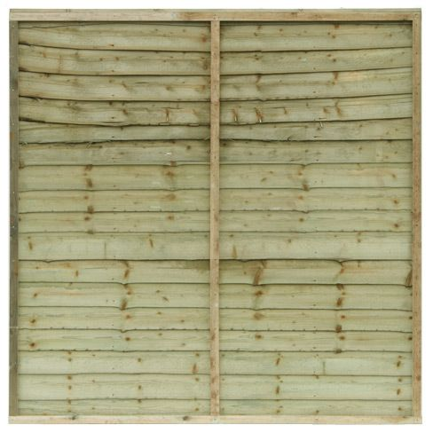 Waney Edge Garden Panel Fence Close Board Fencing Paneling