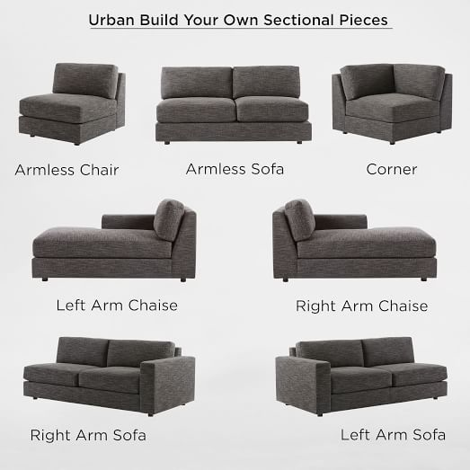 Build Your Own Urban Sectional Pieces Build Your Own Sectional