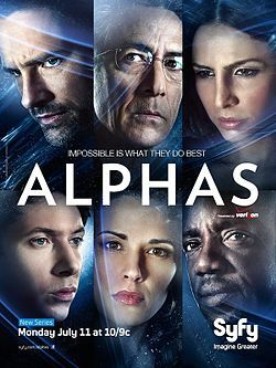 """Alphas is an American science fiction dramatic television series created by Zak Penn and Michael Karnow.    The series follows a group of people with superhuman abilities, known as """"Alphas"""", as they work to prevent crimes committed by other Alphas."""