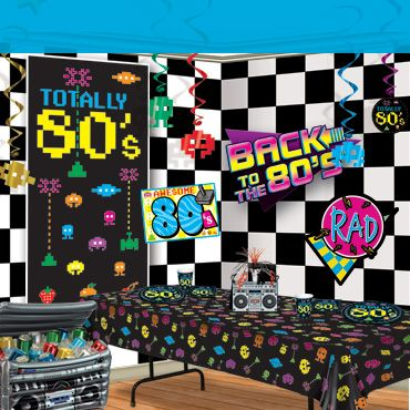 80s arcade party supplies decorations 80 39 s rockin for 80s decoration ideas