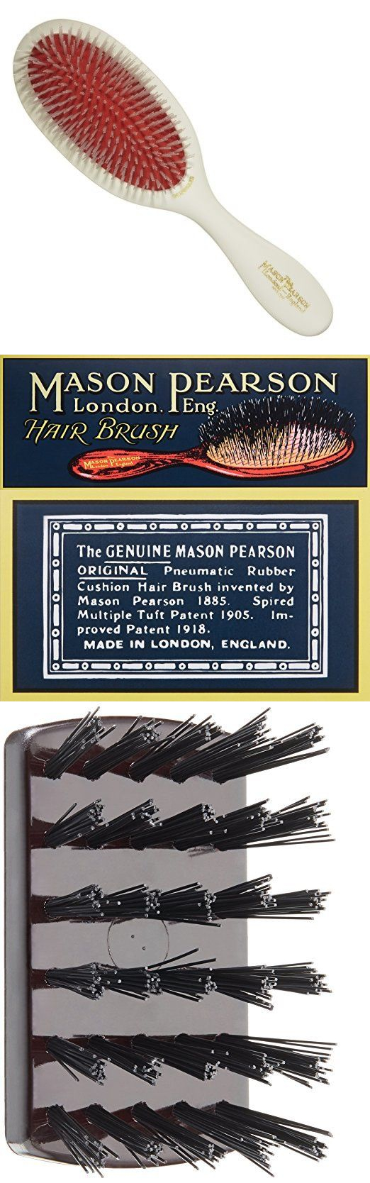 Brushes and combs authentic mason pearson detangler hair brush made