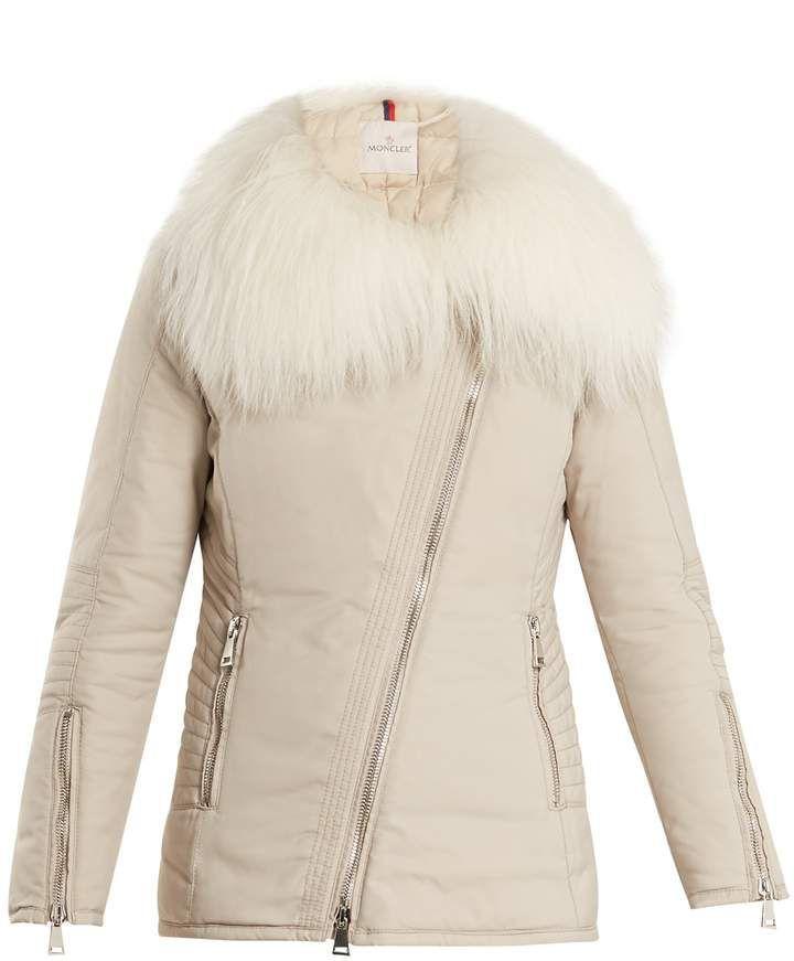 Moncler Choisia fur-trimmed down jacket  7067e135d
