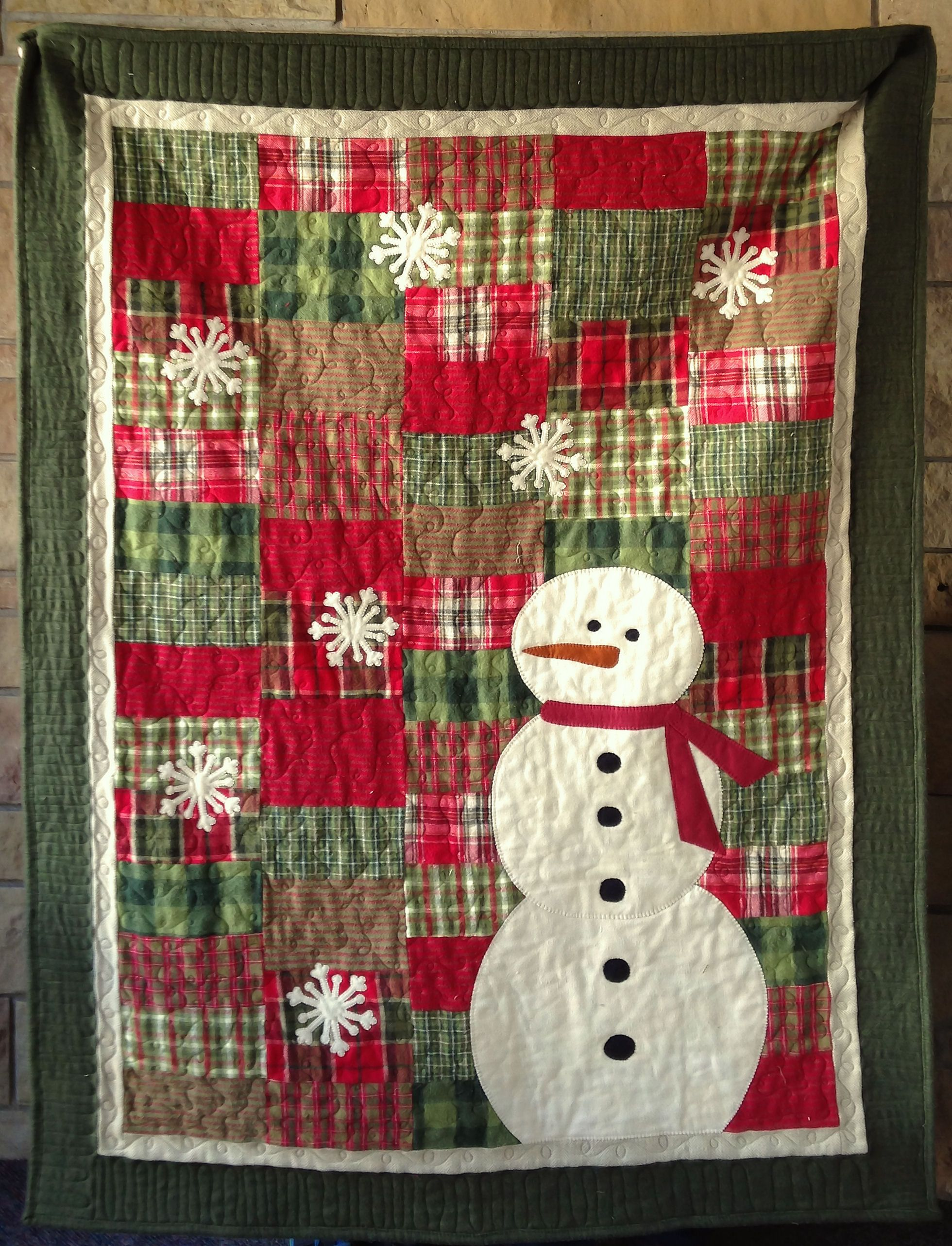 PrimoPlaidSnowmanPasThym | Christmas Quilts | Pinterest ...