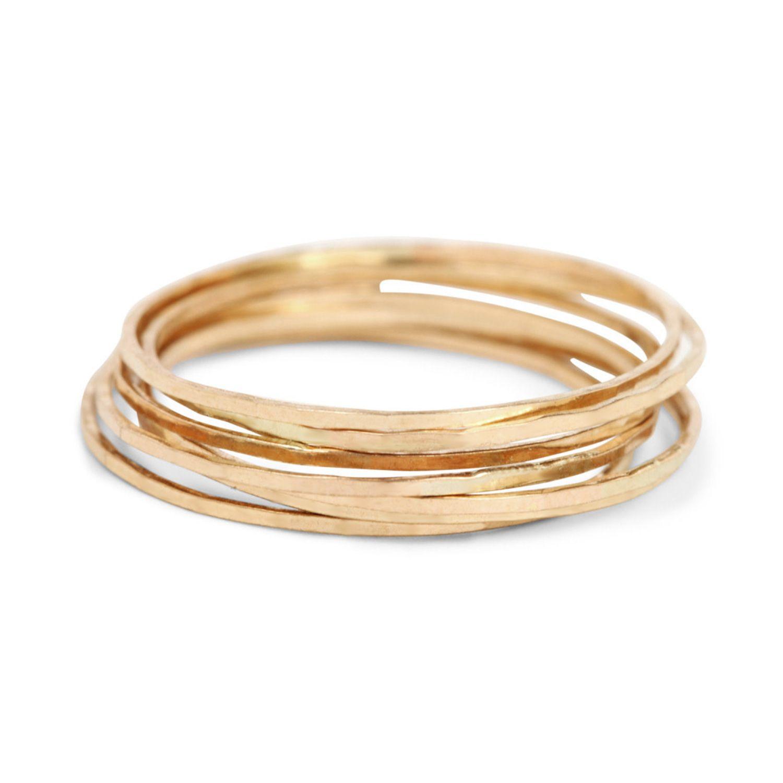 Solid 10k 14k Lotus Flower Rope Toe Ring In Rose Gold