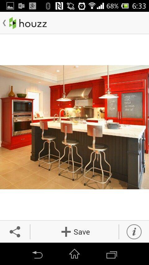 Houzz cocina roja HOGAR Pinterest Hogar