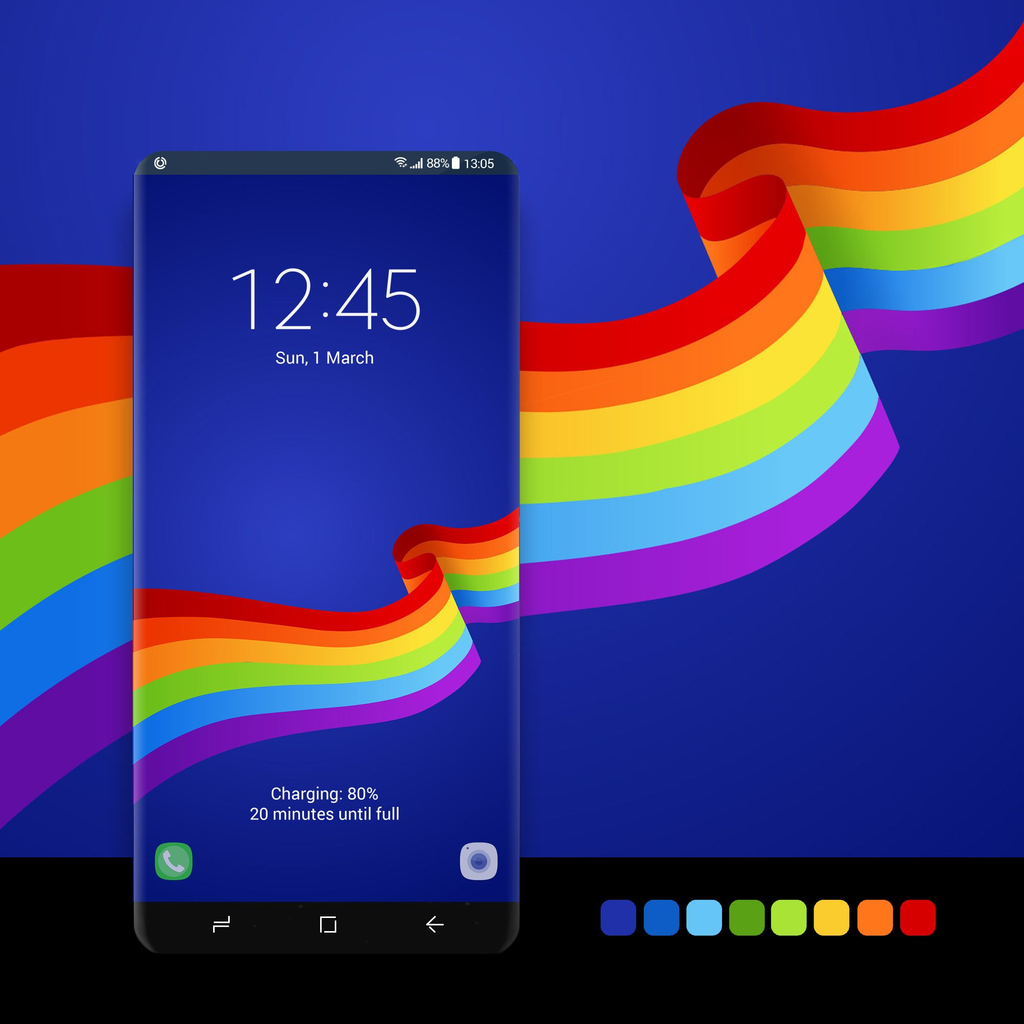 Rainbow Ribbon Samsung Galaxy Wallpaper Galaxy Galaxy Wallpaper
