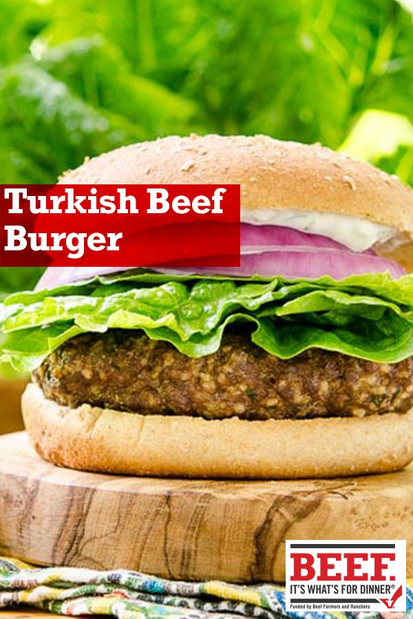 Turkish Beef Burger Recipe Easy Mediterranean Diet Recipes Mediterranean Diet Recipes Burger Recipes Beef