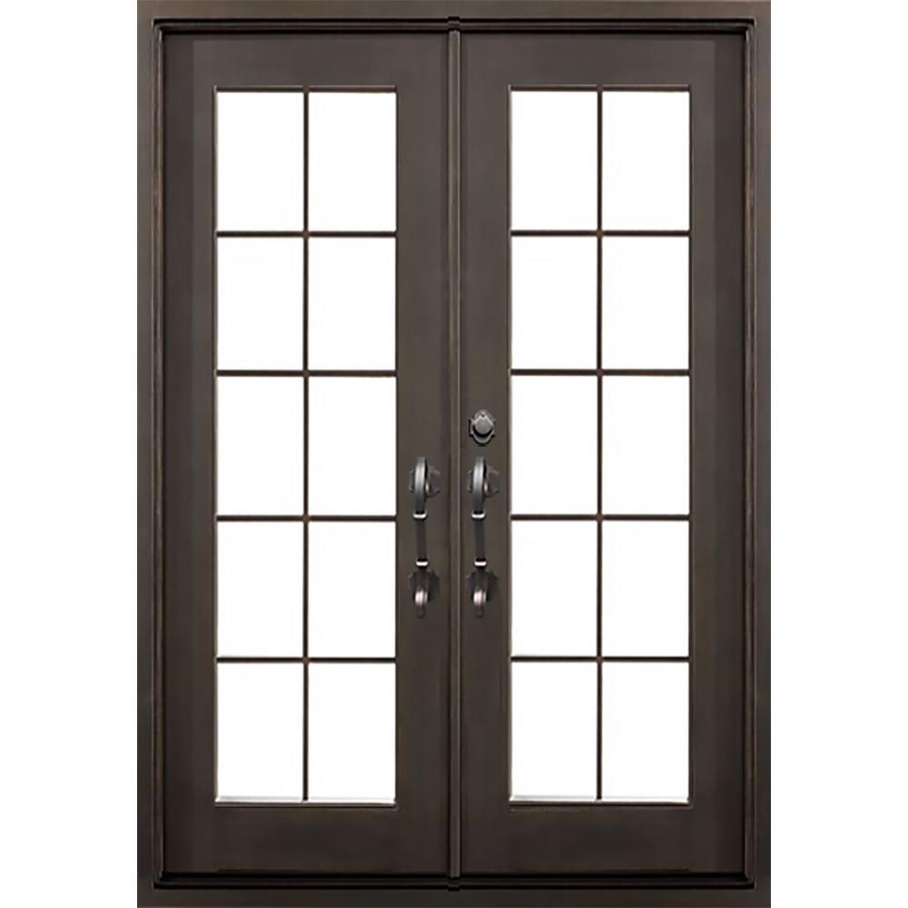 Allure Iron Doors Windows 62 In X 81 5 In Key Largo Dark