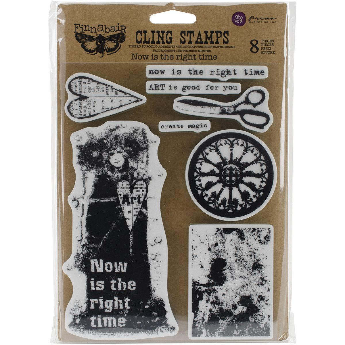 "Finnabair Cling Stamps 6""""X7.5""""-Now Is The Right Time"