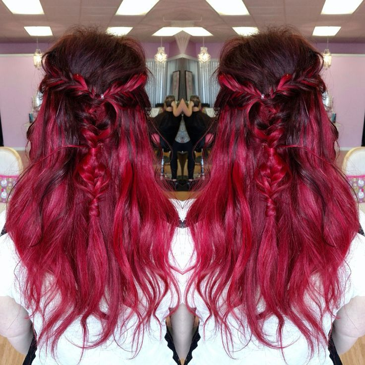 28++ Deep red mermaid red ombre hair ideas