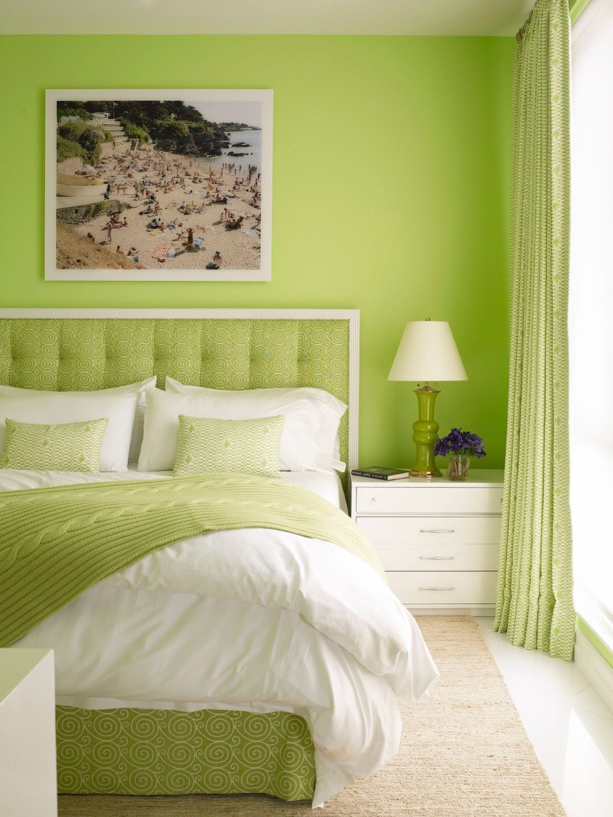 51 Green Bedrooms With Tips And Accessories To Help You Design Yours In 2020 Lime Green Bedrooms Green Bedroom Decor Green Bedroom Walls