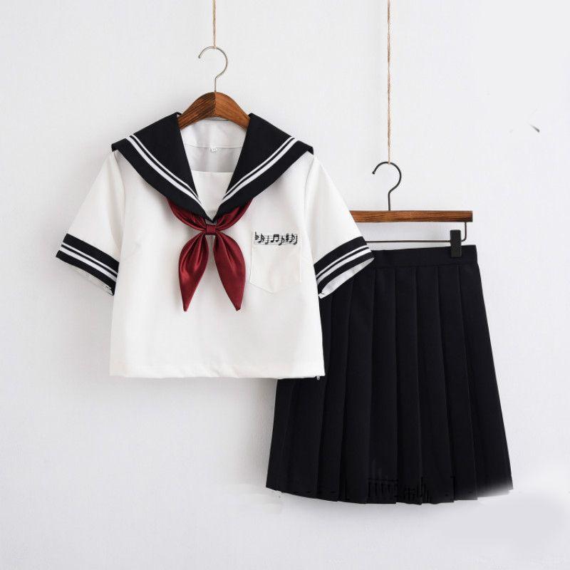 Japan Korea School Uniform Sailor suit Cosplay Costume Halloween Cloth