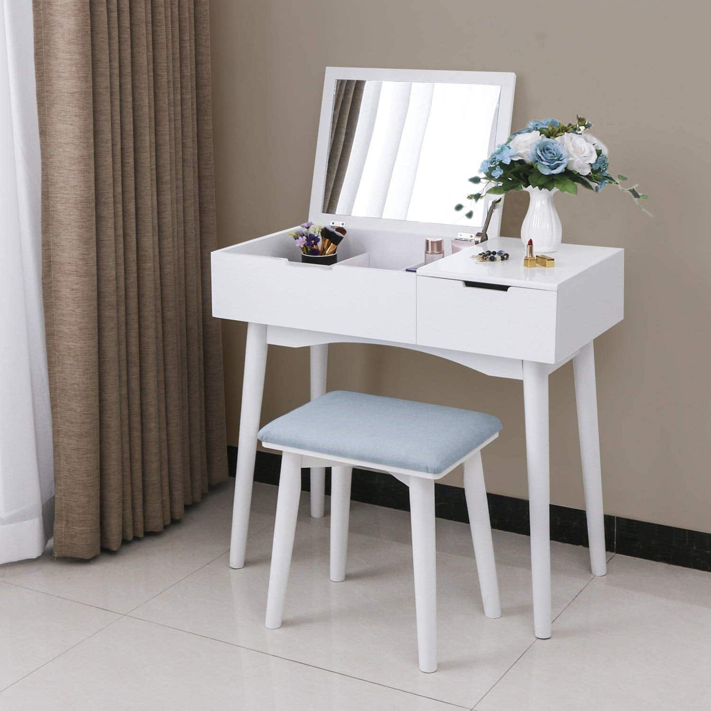 Top 10 Best Vanity Tables In 2020 Reviews Makeup Dressing Tables Vanity Makeup Table Set Makeup Table Vanity