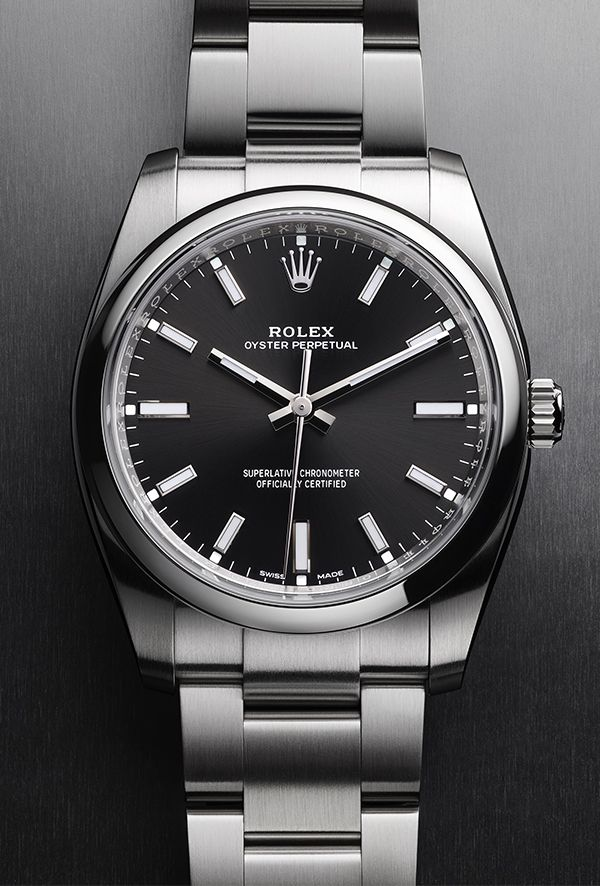 The new Oyster Perpetual 34 with a black dial. #rolexwatches