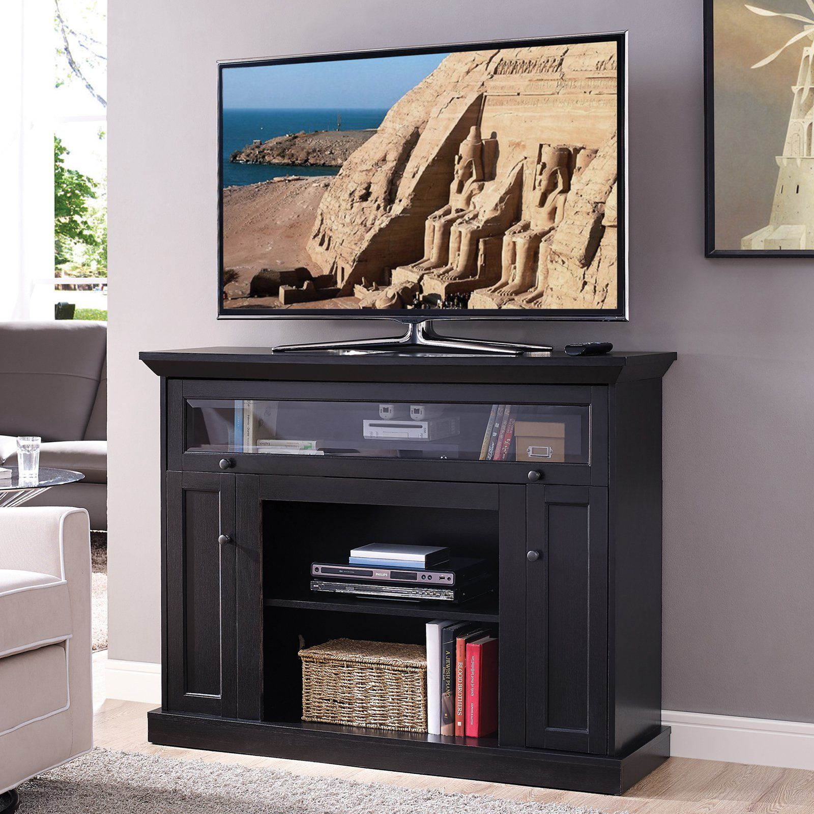 Home Source Industries 46 In Wood Tv Stand Espresso Tv Stand