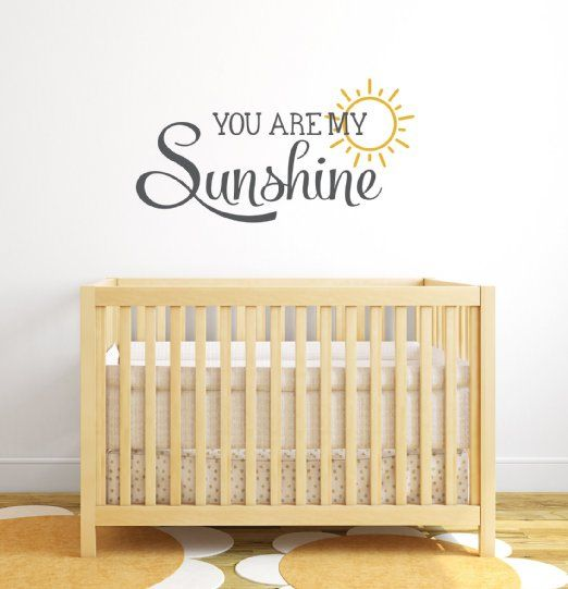 You Are My Sunshine Nursery Quote Wall Decal - Nursery Wall Decals ...