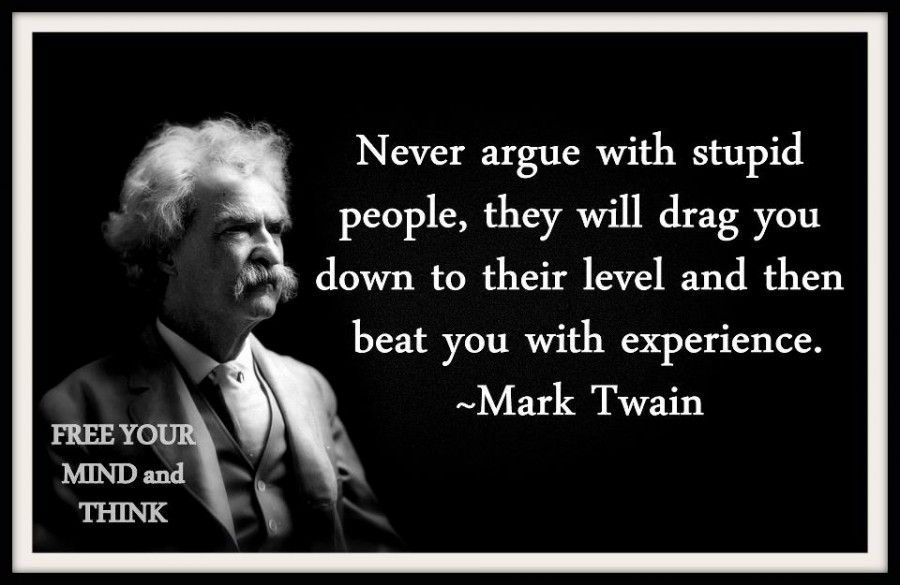 Stupid People Truththeory Ignorant People Quotes Mark Twain Quotes Stupid People