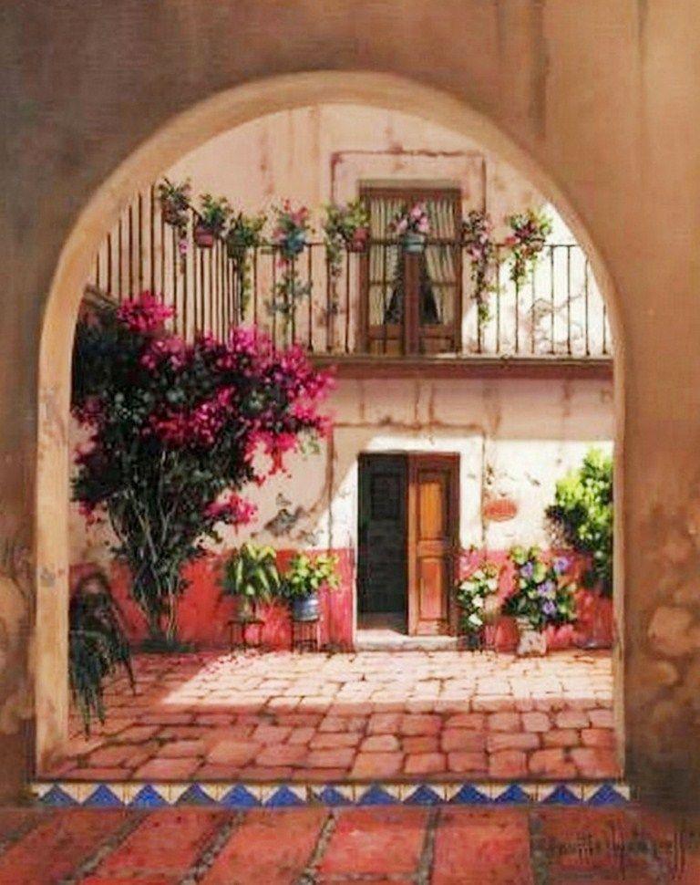 Dibujos de paisajes para repujado buscar con google - Paisajes de casas ...