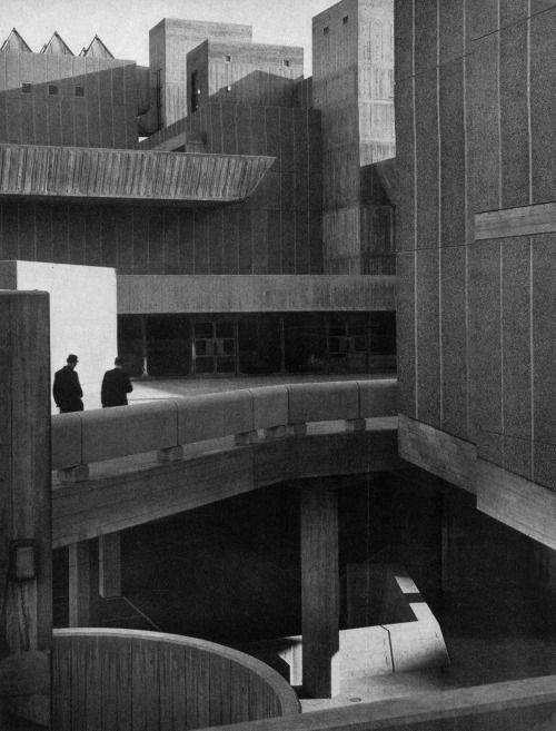 fuckyeahbrutalism: Hayward Gallery, South Bank, London, England, 1961-67(Greater London Council Architect's Department)