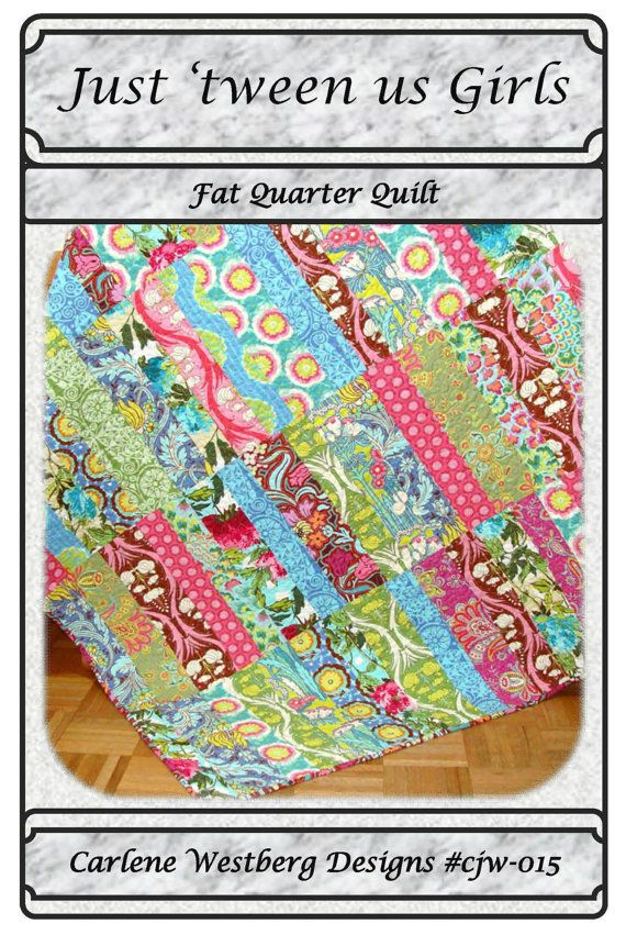 Quilt Pattern Just tween us Girls Fat Quarter cjw 015 Carlene ... : tween quilts - Adamdwight.com