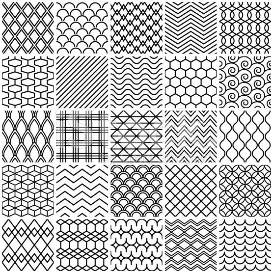 set of simple lines patterns  in 2020