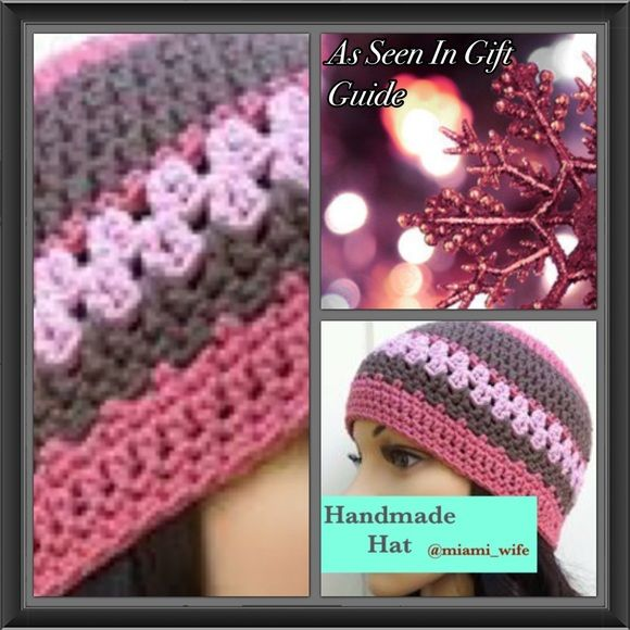 Handmade hat! ☃ Handmade! Crochet hat made to be shipped the next business day. I will make any size and any color and any style u desire. Perfect holiday gift! ☃ Handmade Accessories Hats